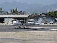 N10033 @ SZP - 2005 Cessna 172S SKYHAWK SP, Lycoming IO-360-L2A 180 Hp, set for takeoff Rwy 22 - by Doug Robertson