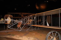 UNKNOWN @ KFFO - At the Air Force Museum.  Replica 1909 Military Flyer built by museum personnel in 1955, using engine donated by Orville Wright, and chains, sprockets and propellers donated by heirs of the Wright estate. - by Glenn E. Chatfield