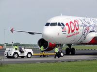 9M-AQH @ WIIS - AirAsia's 100th aircraft - by fauzi arif