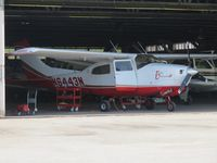 N6443N @ CNO - Parked in a hanger and being worked on - by Helicopterfriend