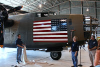 N24927 @ ADS - CAF B-24A Diamond Lil unveiling ceremonies in the Cavanaugh Flight Museum hanger at Addison Airport