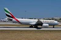 A6-EAJ @ LMML - A330 A6-EAJ Emirates Airlines shorty after landing. - by raymond