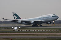 B-HKH @ EGCC - Cathay Pacific Cargo. - by Howard J Curtis