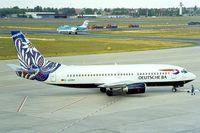 D-ADBH @ EDDT - Boeing 737-3L9 [27336] (Deutsche BA) Berlin-Tegel~D 18/05/1998. Taken from slide. - by Ray Barber