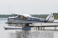 C-FIXA @ CNV7 - Cub float plane on o private dock near Partidge Point - by Duncan Kirk