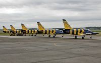 YL-KSL @ EBFS - the Baltic Bees aerobatic team is ready for a traing flight