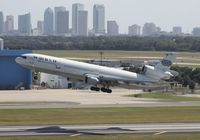 N277WA @ TPA - Downtown Tampa with World MD-11