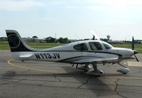 N113JV @ KAXN - Cirrus SR22T at the fuel pump. - by Kreg Anderson