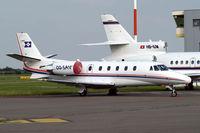 OO-SAV @ EBAW - Cessna Citation Excel [560-5189] Antwerp-Deurne~OO 11/08/2010. Parked here.