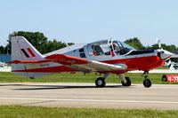 N8272R @ KOSH - Scottish Aviation SA.120-101 Bulldog [BH120/164] Oshkosh~N 30/07/2008. Seen taxiing in. - by Ray Barber