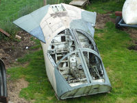 68-0060 @ X6DF - General Dynamics F-111E escape capsule which crashed at Wainfleet Rangers, Lincolnshire. on 5th November 1975 following a bird strike which penetrated the right windscreen. Now preserved at the Dumfries and Galloway Aviation Museum - by Chris Hall
