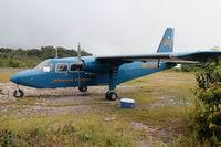 8R-GRB @ KAI - Britten-Norman Islander 8R-GRB, at Kaieteur Airport in Guyana, June 2012 - by Stephen Codrington