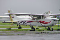 C-FSEX @ CYHU - Seen here on a wet day. - by Ray Barber