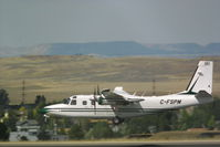 C-FSPM @ BIL - Another shot of the Canadian Aero Commander helping fight the fires in the Montana area. - by Daniel Ihde