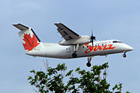 C-FPON @ CYUL - DHC-8-102 [171] (Air Canada Jazz) Montreal-Dorval~C 23/06/2005. On approach. - by Ray Barber