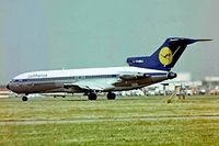 D-ABKJ @ EGLL - Boeing 727-230 [20918] (Lufthansa) Heathrow~G 01/07/1977. Taken from a slide in 1977 - by Ray Barber