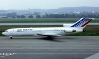 F-BPJO @ LSZH - Boeing 727-228 [20410] (Air France) Zurich~HB 10/09/1981. Seen here taken from a slide.