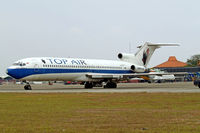 PK-BPT @ WIII - Boeing 727-227 [20736] (Top Air) Jakarta-Soekarno Hatta Int ~PK 26/10/2006. Seen in store here. Now broken up.
