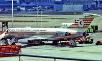 TC-JBF @ EGLL - Boeing 727-2F2 [20980] (Turkish Airlines) Heathrow~G 01/07/1975. Seen here .Taken from a slide.