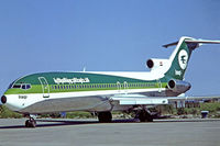 YI-AGL @ EKCH - Boeing 727-270 [21198] (Iraqi Airways) Kastrup~OY 07/06/1982. Seen here. Taken from a slide.