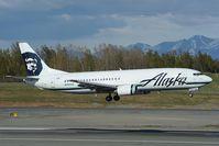 N764AS @ PANC - Alaska Airlines Boeing 737-400 - by Dietmar Schreiber - VAP