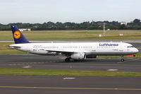 D-AIRA @ EDDL - Lufthansa, Airbus A321-131, CN: 0458, Name: Finkenwerder - by Air-Micha