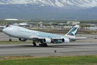 B-LJA @ PANC - Cathay Pacific Boeing 747-8
