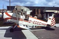 D-ECCC @ EDFM - CASA 1.131E Jungmann [2230] Mannheim~D 02/05/1981. Seen here .Taken from a slide. - by Ray Barber