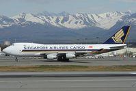 9V-SFM @ PANC - Singapore Airlines Boeing 747-400