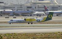 N407QX @ KLAX - Taxiing to gate after arriving at LAX on 25L