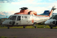 B-MHF @ CYYC - Hong Kong registered Sikorsky with Eagle Helicopters at Calgary , Canada - by Terry Fletcher