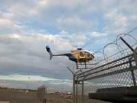 N108PP @ POC - Entering the helipad area through the open gate - by Helicopterfriend