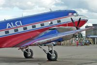 C-GEAJ @ CYYC - ex USAF , french and South Vietnam Air Forces  DC-3 at Calgary - by Terry Fletcher