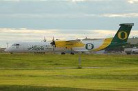 N407QX @ CYYC - Horizon Dash 8 at Calgary