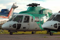 B-HJR @ CYYC - ex Hong Kong Helicopter with Eagle Helicopters at Calgary - by Terry Fletcher