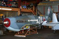D-FAFL @ LFGI - Fuselage awaiting restoration at Aero Restoration Service - by ThierryBEYL