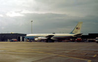 62-4127 @ LHR - VC-135B Stratolifter of the 89th Military Airlift Wing at Andrews AFB as seen at Heathrow in September 1974. - by Peter Nicholson