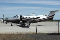 C-FDLV @ GEG - 2007 Pilatus PC-12/47, c/n: 864 - by Terry Fletcher