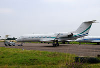 N707EA @ EGTC - Gulfstream G-IV on a tug at Cranfield Airport - by Paul Ashby