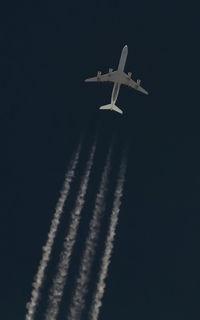 UNKNOWN @ NONE - Lufthansa A340-600 cruising southbound