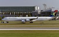 ZS-SNA @ EDDM - towed to the parking aera