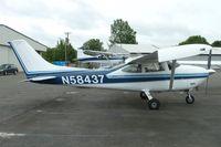 N58437 @ RNT - 1973 Cessna 182P, c/n: 18262061