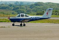 G-LFSA @ EGFH - Visiting Piper Tomahawk operated by the Liverpool Flying School as Liverbird 1. - by Roger Winser