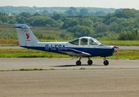 G-LFSA @ EGFH - Visiting Piper Tomahawk operated by Liverpool Flying School as Liverbird 1. - by Roger Winser