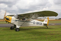 G-BROR @ EGBR - Piper L-4H Grasshopper at The Real Aeroplane Club's Summer Madness Fly-In, Breighton Airfield, August 2012. - by Malcolm Clarke