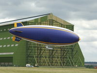 G-HLEL - at Cardington hangers without Goodyear branding yesterday - by richard coughlan