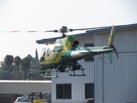 N953LA @ POC - Turning around to face out on helipad 6 - by Helicopterfriend