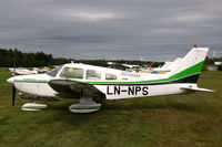 LN-NPS @ ESVS - Piper PA-28 parked at Siljansnäs airfield, Dalarna, Sweden. - by Henk van Capelle
