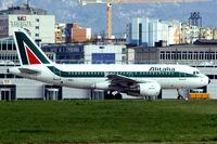 I-BIMJ @ LSGG - Airbus A319-112 [1779] (Alitalia) Geneva~HB 11/04/2009. - by Ray Barber