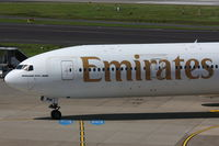 A6-EMW @ EDDL - Emirates, Boeing 777-31H, CN: 32700/0434 - by Air-Micha